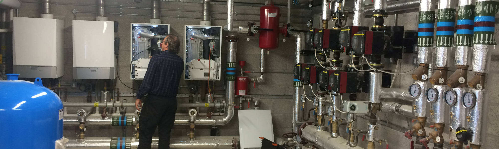Sound Heating Commercial Boiler Servicing - Plant Room Photo